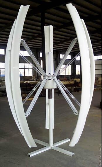 Вертикальный ветрогенератор 1 кВт