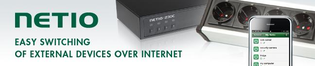 NETio это серия интеллектуальных розеток й PDU (Power Distribution Unit), разработанных и произведенных в Чешской Республике. Концепция серии NETio позволяет помочь Вам исправиться с любыми задачами удаленного контроля дома, в офисе или на производстве.  Для дома - это  автоматическое и удаленное  управление светом, электронное управление воротами, кондиционером и т.д.  Для сервисных инженеров - перезапуск зависших серверов и недоступных устройств, управление внешними устройствами с помощью команды CGI, ...  Хобби -  контроль освещения террариума, освещение на  заводе, контроль влажности и освещенности в теплицах и т.д.   ОСОБЕННОСТИ NETio SMART РОЗЕТОК  Чешский продукт  Доступ с использованием веб-браузеров  Не требует установки программного обеспечения PC  Функция автоматического или ручного перезапуска серверов, маршрутизаторов. Внутренний планировщик - на основе контроля времени электророзеток  Уведомления по электронной почте  Приложения для смартфонов и планшетов  (Android, IOS)
